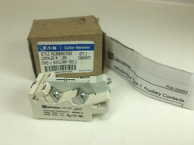 Eaton J20 Auxiliary Contact 9084A17G02 Type J New In Box!