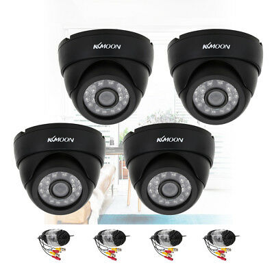 OWSOO 800TVL CCTV Security 4*Indoor Camera 4*60ft Cable 24LEDs Night View H2A8
