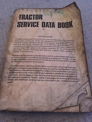 Ford Tractor Service Data Book