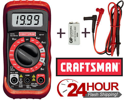 Craftsman Digital Multimeter 8 Function 34-82141 Gift Electrical Volt Test Meter