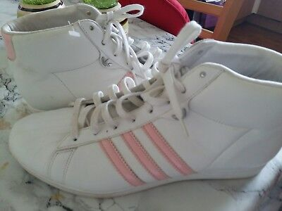 Adidas girls junior  high tops trainers  size 6 VGC