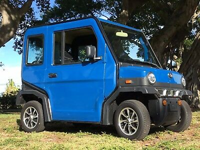 New 2017 Blue Revolution 4 LSV Street Legal 4 Passenger Seat Golf Cart Car