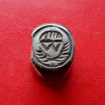Interesting Late Medieval bronze ring 16-17 century