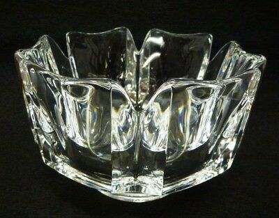 "ORREFORS CORONA 6"" BOWL Modern Crystal Scandinavian SWEDEN-Signed & Numbered"