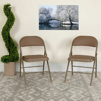 4 Pack Vinyl Padded Metal Frame Event/Home Office Folding Chair