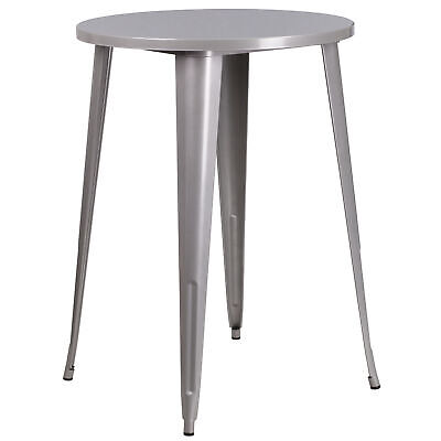 """Commercial Grade 30"""" Round Colorful Metal Indoor-Outdoor Bar Height Dining Table"""