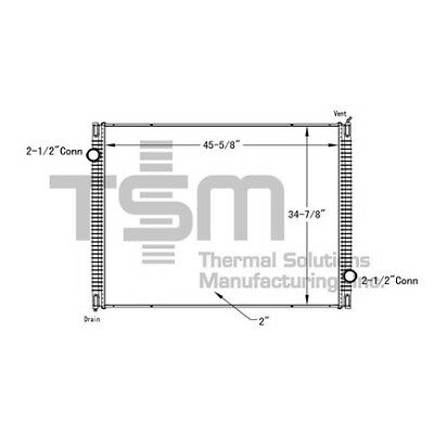 THERMAL SOLUTIONS MFG. 0437426P - Radiator