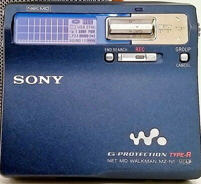 ✔Sony Mz-N1 Minidisc Dark Blue High End Player • Perfect Working Condition 9/10