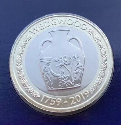 BRAND NEW 2019 £2 BU COIN - Formation of Wedgwood Anniversary - sealed