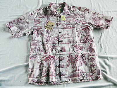 "Vintage ""Kahala 1936"" Christmas Hawaiian shirt, made in Hawaii XL, new with tag"
