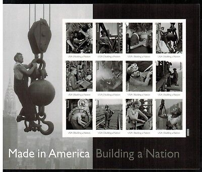 US #4801 Made in America Building a Nation Imperf sheet of 12 2013 MNH---