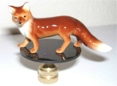 Porcelain Red Fox Lamp Finial, lamp topper, new
