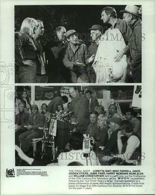 "1983 Press Photo Loretta Swit and cast at final episode taping of ""M*A*S*H"""