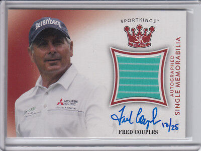 2018 SportKings Red Autograph Masters worn relic Fred Couples 13/25