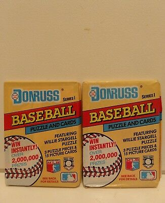 Lot of 2 Unopened Pack Of 1991 Donruss Baseball Puzzle ,Cards~Willie Stargell