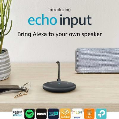 Echo Input - Amazon Alexa Adapter for any Speaker - Bluetooth or 3.5mm - Black