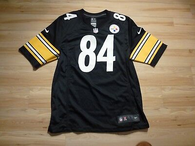 Mens Nike Pittsburgh Steelers BROWN #84 NFL Jersey Size L