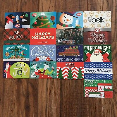 (17) Holiday Gift Cards Collectible No Value NEW