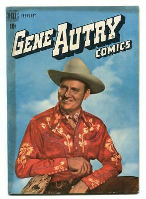 Gene Autry #24 - Dell - Photo Cover - Champion The Horse - Firfires Art - 1949