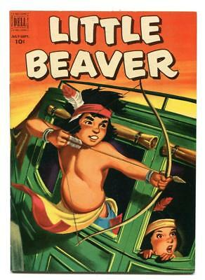 Little Beaver #6 - Dell - Nice Fred Harman Painted Cover And Inside Art - 1952