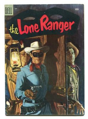 Lone Ranger #85 - Dell - Hank Hartman Painted Cover - Tonto And Silver - 1955