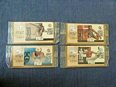 4 Piece Bundle 1996 Olympics AT&T PrePaid Phone Cards Unused