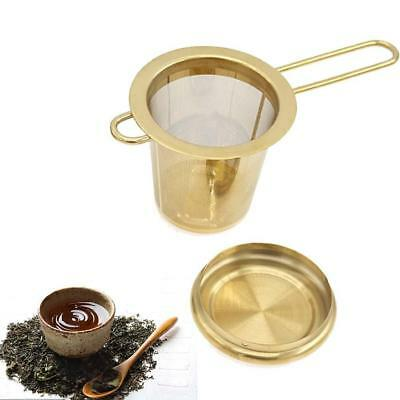 Stainless Steel Mesh Tea Infuser Metal Cup Strainer Loose Leaf Filter With Lid h