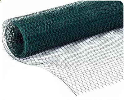 PVC COATED Galvanised Fence Fencing Mesh Garden Chicken Wire Aviary Pet