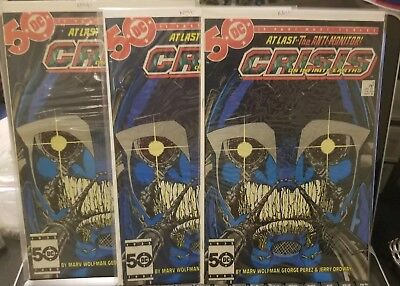 Crisis on Infinite Earths #6 ALL NM/NM+ GRADE ANTI MONITOR LOT OF 3 KEY APP