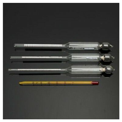 4X(3pcs Hydrometer Alcoholmeter Set 0 to 100% Alcohol Meter Test + Thermomet A6)