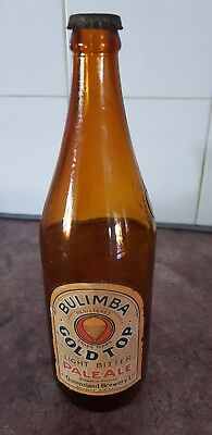 Bulimba Gold Top Pale Ale Beer Bottle..Brisbane. Queensland Brewery . Will Post