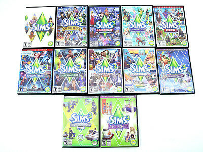 sims 3 expansion pack list