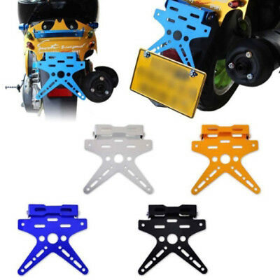Number License Plate Mount Holder Bracket Motorcycle Aluminum Alloy L
