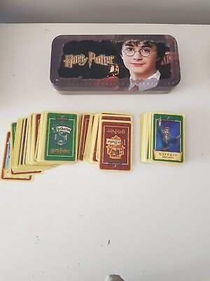 Vintage Harry Potter Tin And Card Game Cards