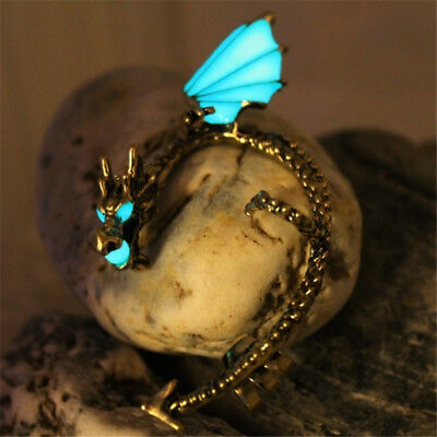 Dragon Ear Cuff Glow in the Dark Luminous Punk Gothic Clip Stud Earrings L