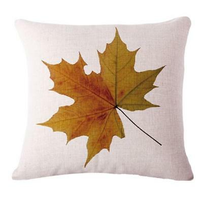 Home Decor Maple Leaf Cotton Linen Pillow Case Sofa Waist Throw Cushion Cover L
