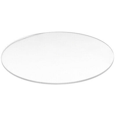 4X(Transparent  3mm thick Mirror Acrylic round Disc N6H3)