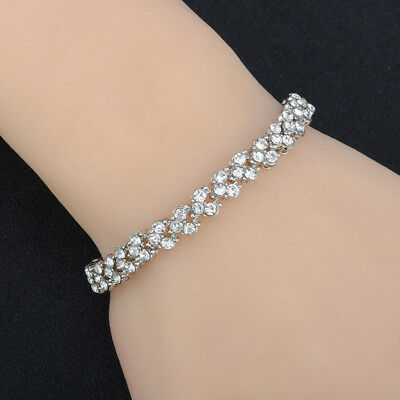 Luxury Crystal Fashion Roman Bracelets Full Rhinestone Bracelet L