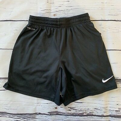 Nike Dri Fit Youth Size Small Athletic Shorts Black and White