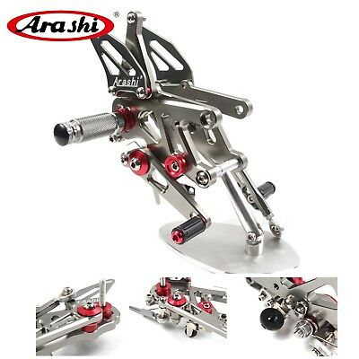 Adjustable Footrests Rearsets Footpeg Pedal For Aprilia RSV4 2013 2014 2015 2016