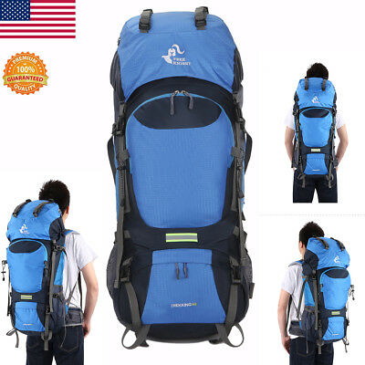 60L Outdoor Hiking Bag Camping Travel Waterproof Mountaineering Backpack Large