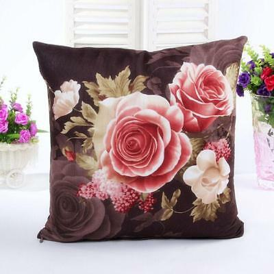 Pillow Printing Dyeing Peony Sofa Bed Home Decor Pillow Case Cushion Cover L
