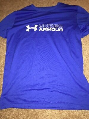 Under Armour Heat Gear Boys Loose Fit Gray Shorts Size M NEW!
