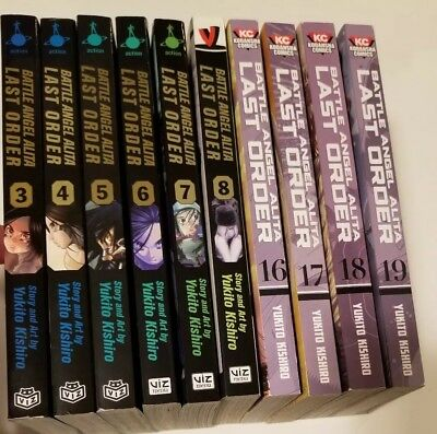 Battle Angel Alita, Last Order Lot Of 10, Books 3-8 & 16-19, Viz, English, Manga