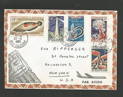 New Caledonia 1966 Attractive Cover To Us