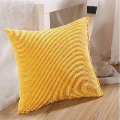 Corduroy Home Decor Pillow Case Sofa Throw Pillow Square Color Cushion Cover L