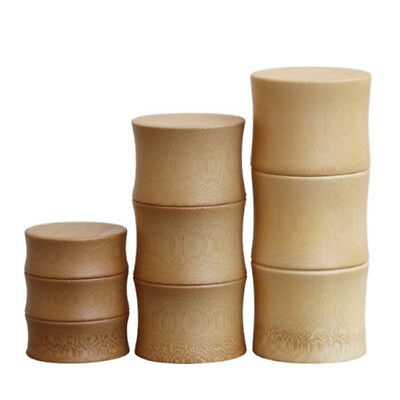 Bamboo Small Bottles Storage Jar For Bulk Products Sugar Tea Container Case