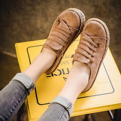 Womens Students Casual Shoes Flat Lazy Loafers Sport Train Flat Heel Shoes NEW L