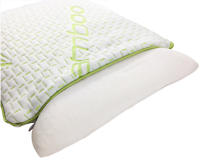 Kids Bamboo Standard Cot Pillow Anti Allergy & Dust Mite Memory Foam Toddler 2X