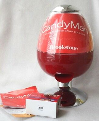 Brookstone Candyman Automatic Candy Snack Dispenser Red Oval Battery AC Adaptor